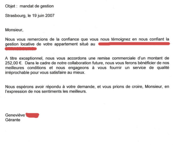 Modele lettre resiliation mandat de gerance document online - Droit du locataire en cas de vente ...