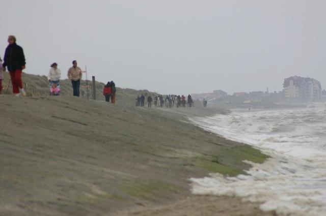 Samedi après-midi, marée montante... donc arrivée par la digue