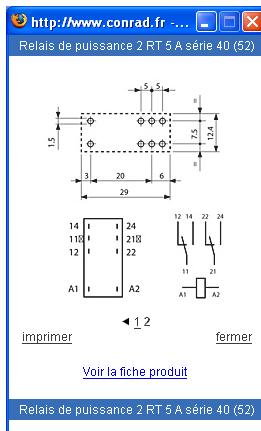 schema cablage relais finder. Black Bedroom Furniture Sets. Home Design Ideas