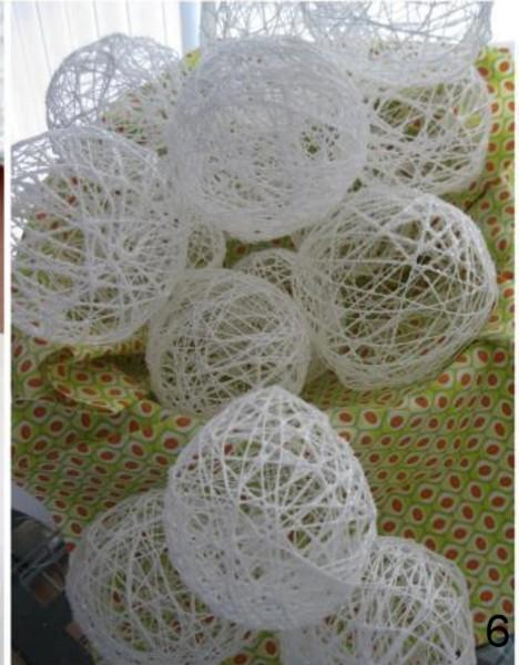Tutoriel comment faire des boules de no l en fils coton - Comment faire des boules de noel ...