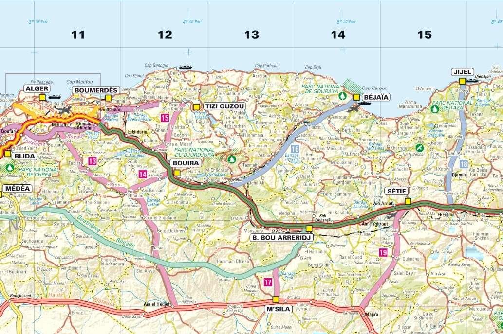 Carte Algerie Autoroute Est Ouest.Transmaghrebine Highway 3 210 Km U C Page 13 Skyscrapercity