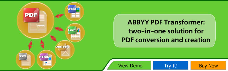 ABBYY PDF Transformer 2������ �����PDF ��� ,text.HTML.outlook.excel.word..