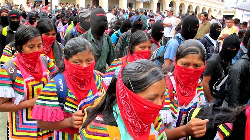 110 - Al finalizar el 13 baktun 50 mil mayas zapatistas  marchan en silencio en 5 ciudades de Chiapas