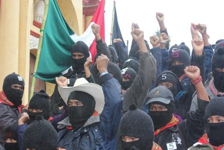 2110 - Al finalizar el 13 baktun 50 mil mayas zapatistas  marchan en silencio en 5 ciudades de Chiapas