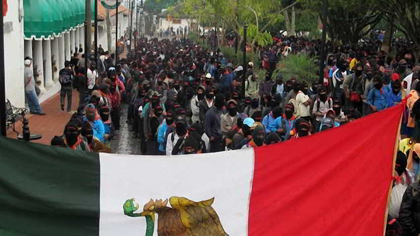 310 - Al finalizar el 13 baktun 50 mil mayas zapatistas  marchan en silencio en 5 ciudades de Chiapas