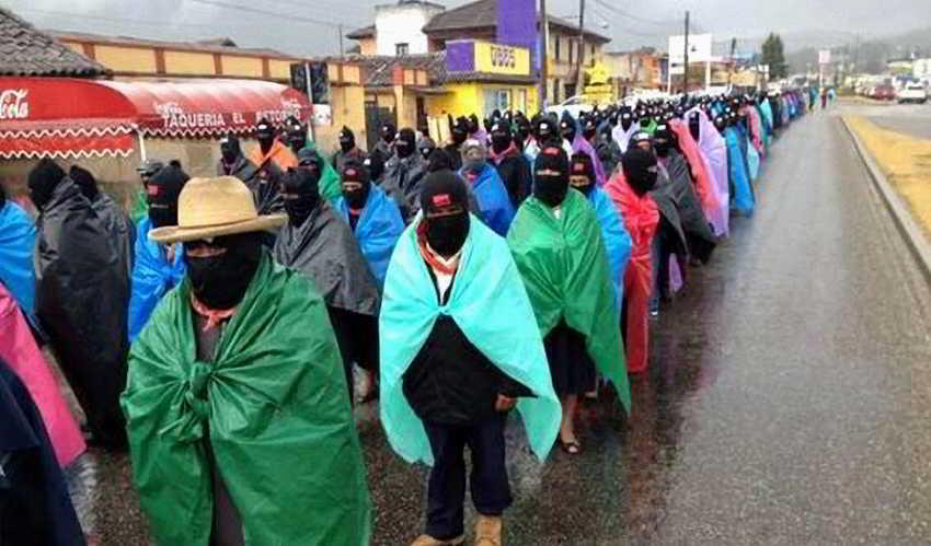 410 - Al finalizar el 13 baktun 50 mil mayas zapatistas  marchan en silencio en 5 ciudades de Chiapas