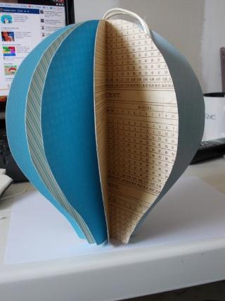Tutoriel de la montgolfi re boule de scrap - Montgolfiere en papier ...