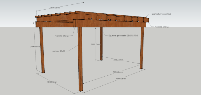 construire une pergola. Black Bedroom Furniture Sets. Home Design Ideas