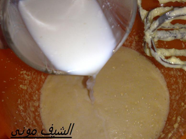 كاكاو خام نصف كوب لبن الطريقة نحط الزبدة والسكر مع