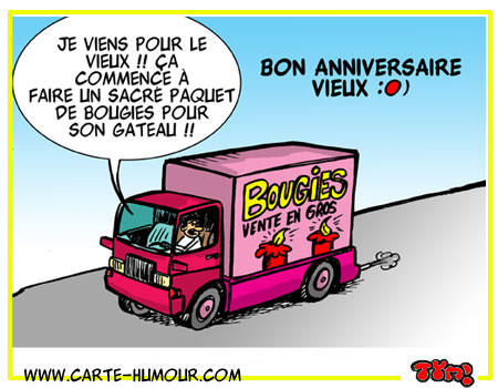 anniversaire humour routier