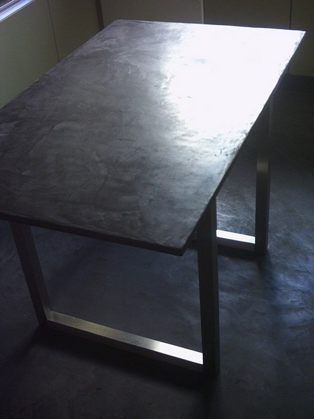table en beton comment faire. Black Bedroom Furniture Sets. Home Design Ideas