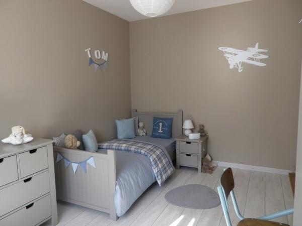 Conseils couleurs pour la chambre de notre petit b b - Tapisserie chambre bebe garcon ...
