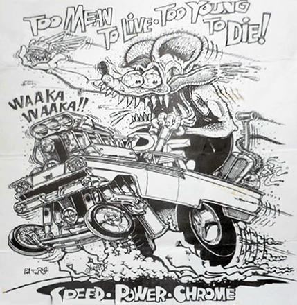 Ed Big Daddy Roth Rat Fink Coloring Pages