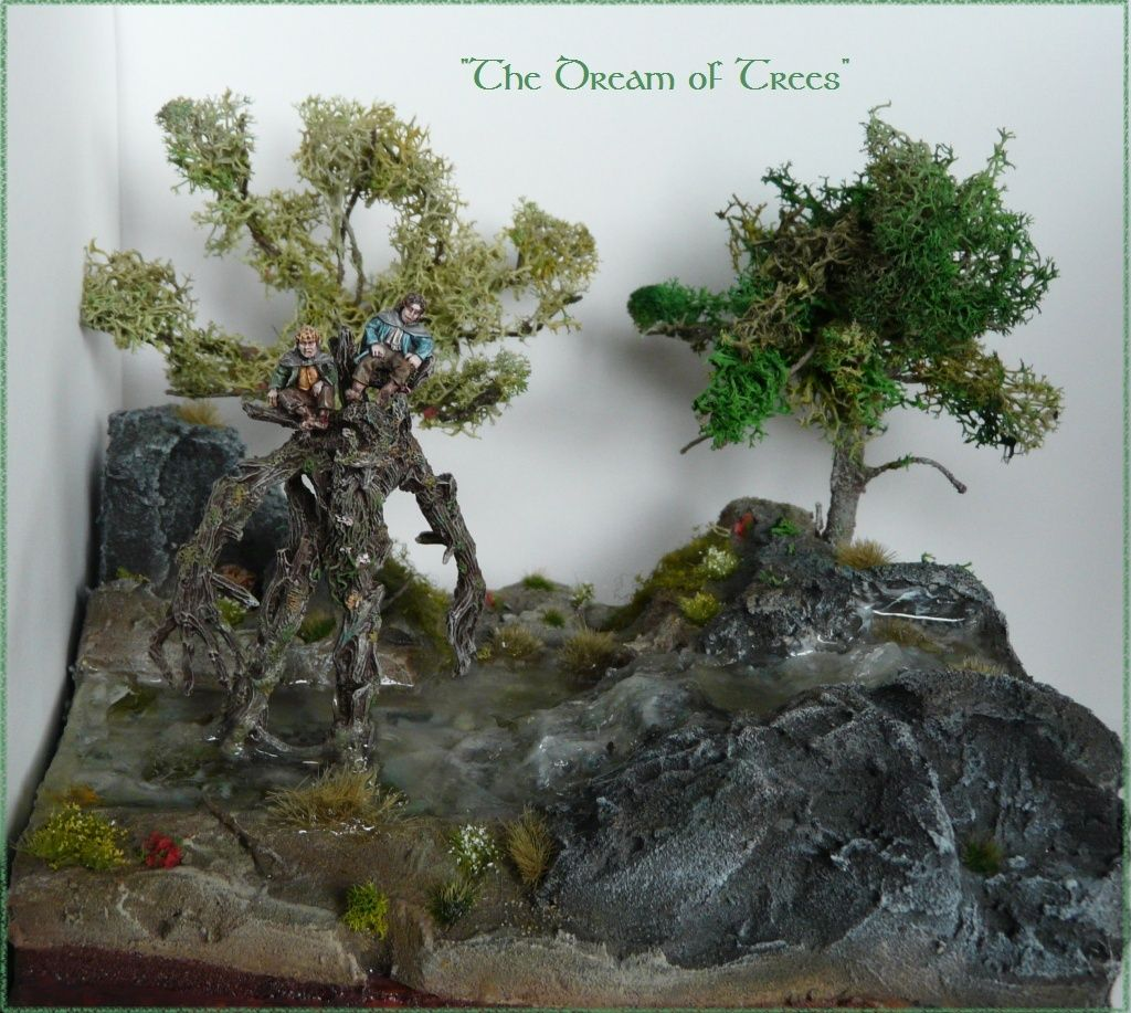 "Extrêmement The Dream of Trees"" Diorama Seigneur des anneaux (Sylvebarbe  EY72"