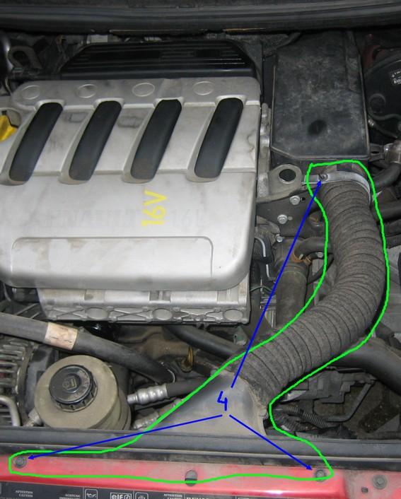 Changer filtre a air megane 1 phase 2 1.6 16v